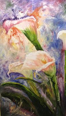 Calla Lillies Abstract Poster
