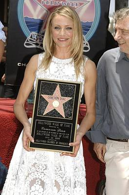 Cameron Diaz At The Induction Ceremony Poster by Everett