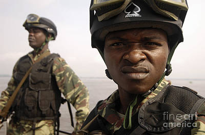 Cameroonian Navy Sailors Poster by Stocktrek Images
