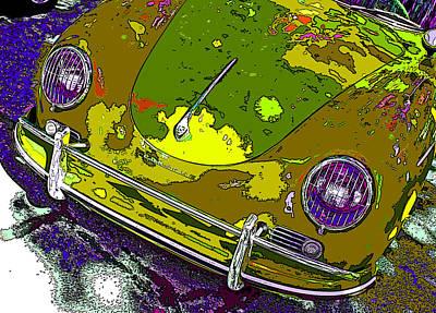 Camouflaged Porsche 356 Poster