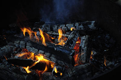 Poster featuring the photograph Campfire by Fran Riley