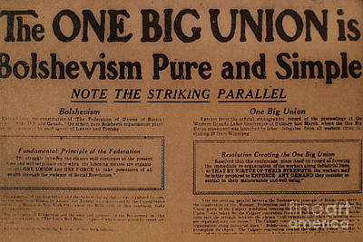 Canada: One Big Union, 1919 Poster