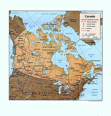 Canada Relief Map Poster