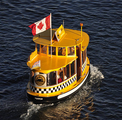 Canadian Water Taxi Poster by MaryJane Armstrong