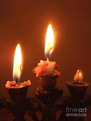 Candles Poster by Annemeet Hasidi- van der Leij