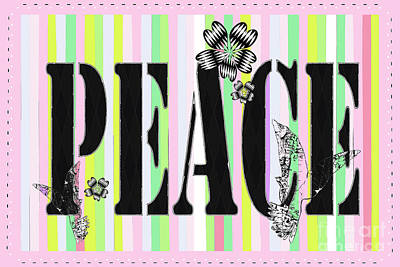 Candy Stripe Peace Juvenile Licensing Poster by Anahi DeCandy