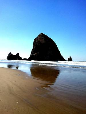 Cannon Beach Blue Poster by J Von Ryan