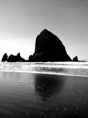 Cannon Beach Bnw Poster by J Von Ryan