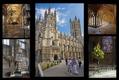 Canterbury Cathedral Collage Poster by Donald Davis