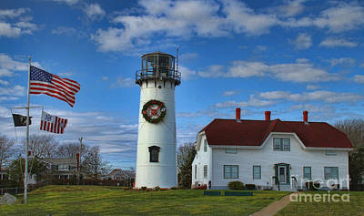 Poster featuring the photograph Cape Cod Chatham Lighthouse by Gina Cormier