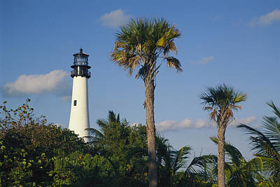 Cape Florida Lighthouse At Bill Baggs Poster by Richard Nowitz
