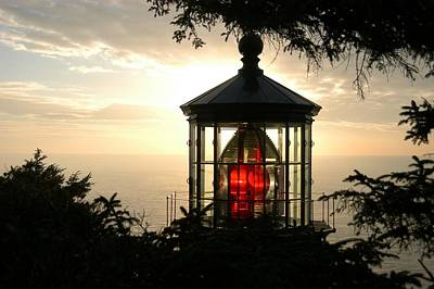 Cape Meares At Sunset Poster