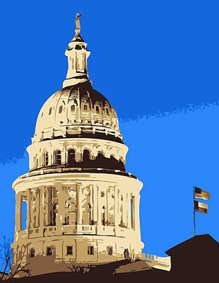 Capitol Dome Color 6 Poster by Scott Kelley
