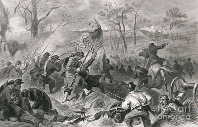 Capture Of Fort Donelson, 1862 Poster by Photo Researchers