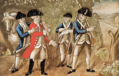 Capture Of Major Andre, 1780 Poster by Photo Researchers