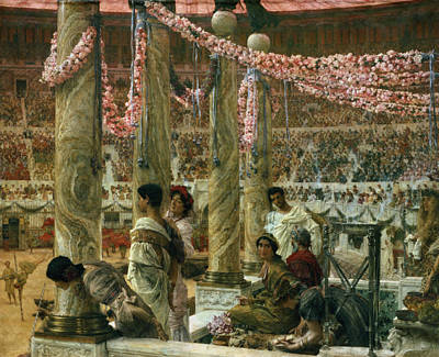 Caracalla And Geta Poster by Sir Lawrence Alma-Tadema
