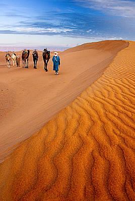 Caravan On The Desert Poster