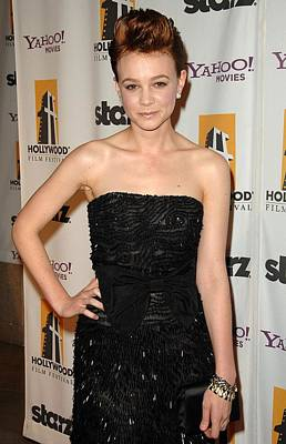 Carey Mulligan At Arrivals For The Poster by Everett