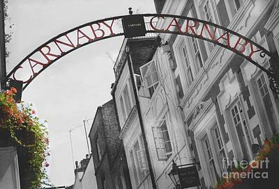 Carnaby Street London IIi Poster by Louise Fahy