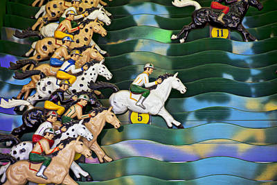 Carnival Horse Race Game Poster by Garry Gay