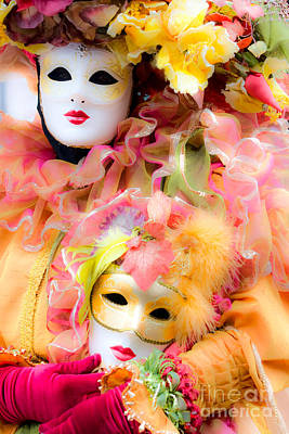Poster featuring the photograph Carnival Mask by Luciano Mortula