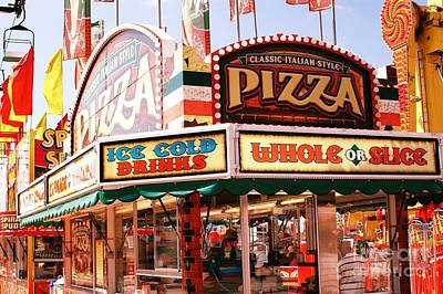 Carnivals Fairs And Festival Art - Pizza Stand  Poster