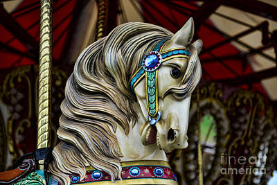 Carousel Horse 3 Poster by Paul Ward