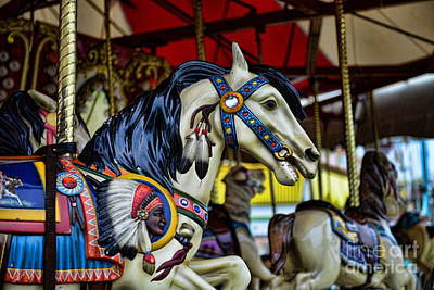 Carousel Horse 6 Poster