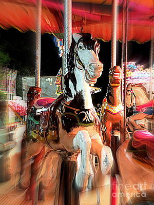 Poster featuring the photograph Carousel Horses by Renee Trenholm