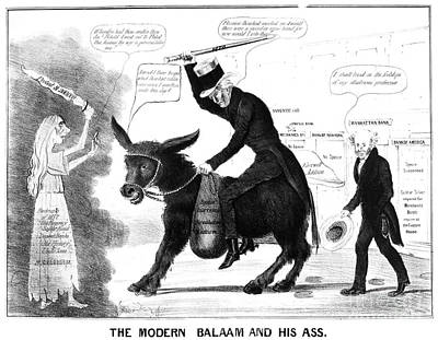 Cartoon: Panic Of 1837 Poster by Granger