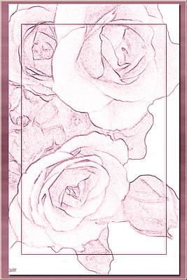 Cascade Rose Card Poster