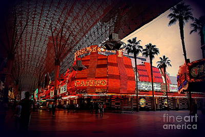 Casino Fremont Street Las Vegas Poster by Susanne Van Hulst