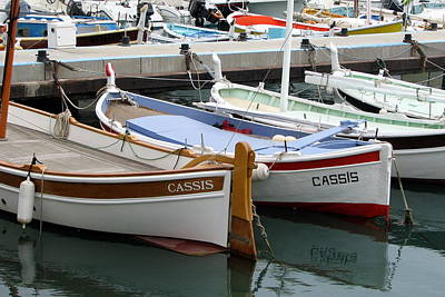 Cassis Harbor Poster by Carla Parris