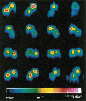 Castalia Asteroid Sequence, False-color Poster by Science Source