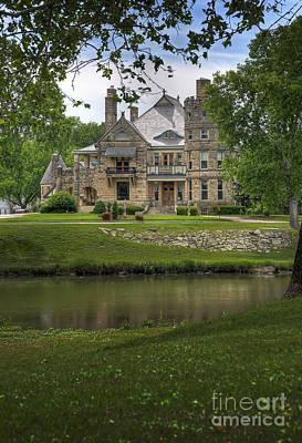 Castle Across River Poster