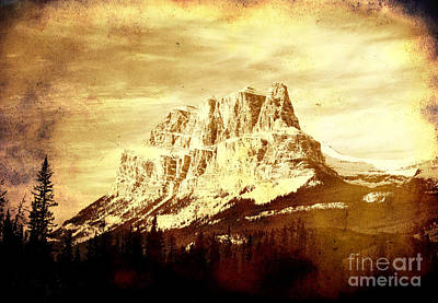 Castle Mountain Poster by Alyce Taylor