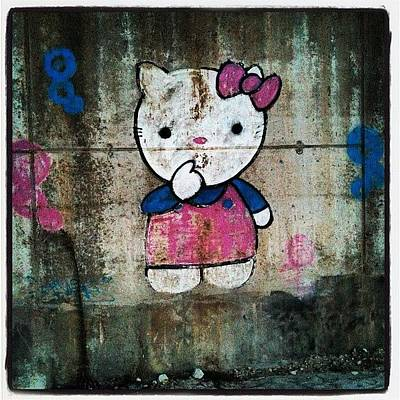 #cat, #baby, #cartoon, #graffiti Poster