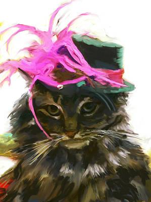 Cat In Fancy Hat Poster