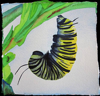 Poster featuring the painting Caterpillar by Teresa Beyer
