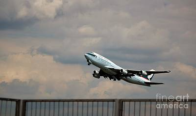 Cathay Pacific B-747-400 Poster by Rene Triay Photography