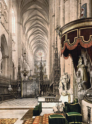 Cathedral In Amiens France Poster