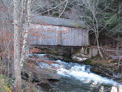 Catskill Covered Bridge Poster by Kathryn Barry