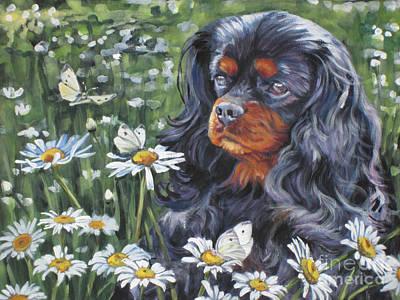 Cavalier King Charles In The Wildflowers Poster by Lee Ann Shepard