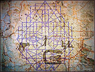Cave Drawings Geometrized Poster