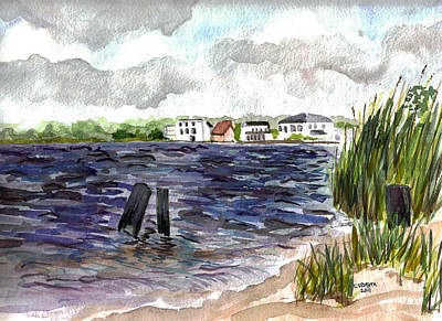Poster featuring the painting Cedar Beach by Clara Sue Beym