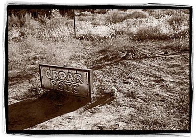 Cedar Pete Gravesite In Grafton Utah Poster by Steve Gadomski
