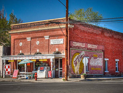 Cedarville California Grocery Store Poster by Scott McGuire