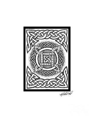 Celtic Four Square Circle Poster