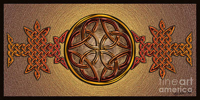 Poster featuring the mixed media Celtic Knotwork Enamel by Kristen Fox