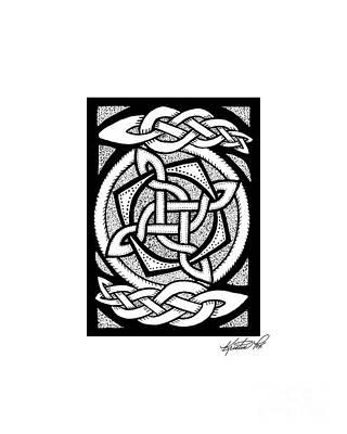 Celtic Knotwork Rotation Poster